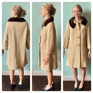 Vintage Swing Coat Fur Collar 🇺🇸 ILGWU produced